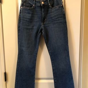 Banana Republic mid rise crop flare jeans